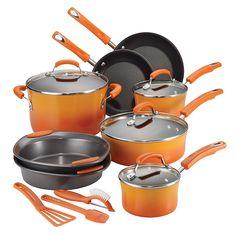 Rachael Ray Porcelain 10 Piece Cookware Set