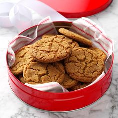 Cookie Jar Gingersnaps Recipe -My grandma kept two cookie jars in her pantry. One of the jars, which I now have, always had these crisp and chewy gingersnaps in it. They're still my favorite cookie recipe. My daughter, Becky, used this recipe for a 4-H fair and won a blue ribbon. —Deb Handy, Pomona, Kansas