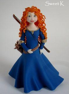 """Merida """"Brave"""" sugar figure Cake by Karla (Sweet K)"""