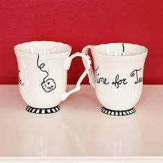 DIY Gift Idea - Mugs decorated with Sharpies -- IF you have a steady hand!
