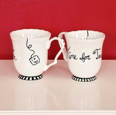 sharpie pens to decorate mugs. Black Bedroom Furniture Sets. Home Design Ideas