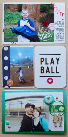 Project Life Week 7 - Baseball Insert by Traci Reed using the Project Life Baseball Themed Pack