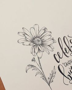 All Details You Need to Know About Home Decoration - Modern Daisy Flower Drawing, Daisy Flower Tattoos, Flower Drawing Tutorials, Sunflower Drawing, Flower Sketches, Flower Art, Tattoo Sketches, Tattoo Drawings, Art Drawings