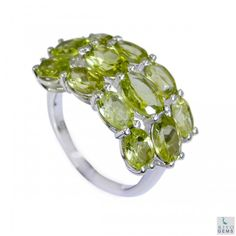 Riyo Knowledgeable Peridot 925 Solid Sterling Silver Green Ring Srper7-58011