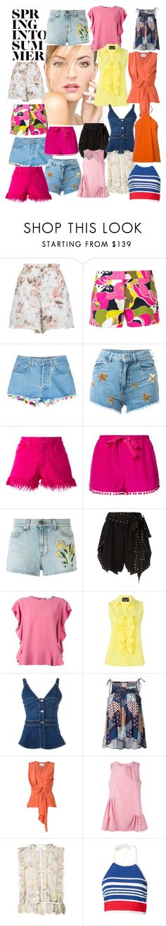 """""""Spring in to Summer...."""" by lalu-papa on Polyvore featuring Zimmermann, Trina Turk, Forte Forte, Chiara Ferragni, Love Moschino, Figue, Gucci, Philosophy di Lorenzo Serafini, RED Valentino and Boutique Moschino"""