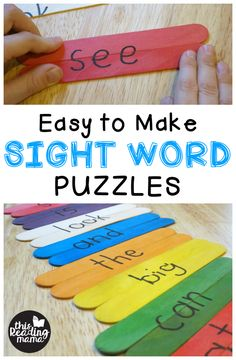 Easy to Make Sight Word Puzzles - This Reading Mama