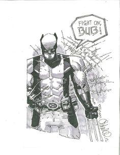 Inspirational Wolverine Comic Art