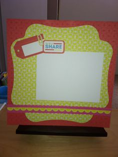Creative Memories scrapbook page. Candy Shoppe power palette