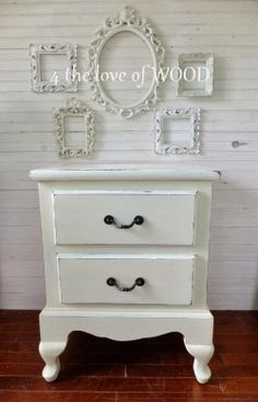 Shabby Chic White 4 the love of wood: POTTERY BARN STYLED NIGHTSTANDS