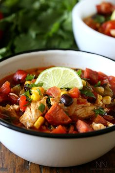 Spicy Chicken Lime Soup by nutmegnanny #Soup #Chicken #Lime
