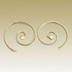 14K yellow gold filled spiral earrings - Thoughts of you