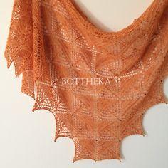 Tripectinoida shawl by Botthéka - knitting, lace, triangles, beaded, naturally dyed merino-silk yarn Beading Needles, Lang Yarns, Circular Needles, Yarn Colors, Needle And Thread, Triangles, Crochet Hooks, Shawl, Tapestry