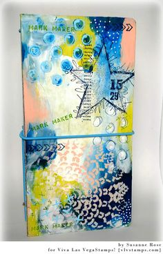 Susanne Rose Designs: Art Journal with the Eileen Hull Journal die. Step by Step photos.