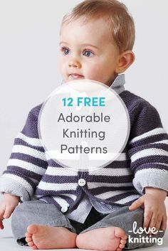 Free Knitting Pattern for Baby Gansey Sweater - This Easy Baby Aran pullover features gansey texture stitch patterns and buttons at the shoulders for easy dressing. Designed by Sarah Hoffman. Size 12 to 28 months / 20 inch chest finished size. Baby Cardigan Knitting Pattern Free, Knitting Patterns Boys, Knitting For Kids, Baby Patterns, Free Knitting, Knitting Projects, Knitting Ideas, Stitch Patterns, Trendy Baby Clothes