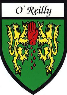 Family Name Stickers - O'Reilly Coat of Arms - $4.99 - O'Reilly Irish Family Souvenir Sticker with the coat of arms for the O'Reilly family name. The sticker is suitable for the car, the office or the home and makes a great little gift.