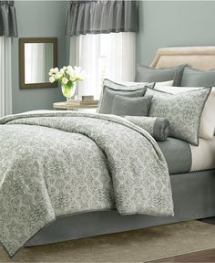 Martha Stewart Collection Regal Filigree 22-Pc. Comforter Sets - Bed in a Bag - Bed & Bath - Macy's