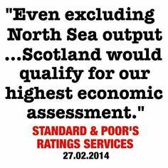 Investment grade credit rating for an independent Scotland! ~ Scottish Independendence Referendum - vote YES! 2014