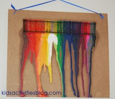 Use the summer heat for good! Create melted crayon art with your kiddos!