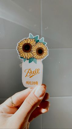 Mason Jar Projects, Mason Jar Crafts, Mason Jars, Sticker Designs, Sticker Ideas, Macbook Stickers, Decorated Water Bottles, Business Planner, Waterproof Stickers