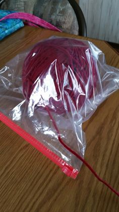 61efb5a622d Keep crochet or knitting yarn clean and dry while camping.