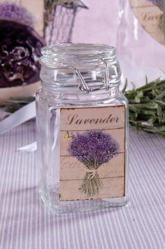 Verschlußglas 'Lavendel' detailverliebt bedruckt, gefunden auf www.country-garden.de