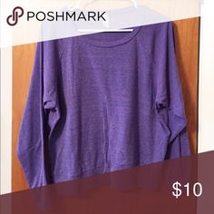 American Apparel scoop neck long sleeve size S Purple long sleeve shirt SO SOFT with scoop neck. Perfect condition American Apparel Tops Tees - Long Sleeve