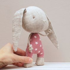 Handmade bunny, soft stuffed toy
