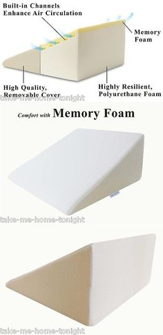 wedges and bed positioners high quality memory foam wedge bed pillow support back neck leg