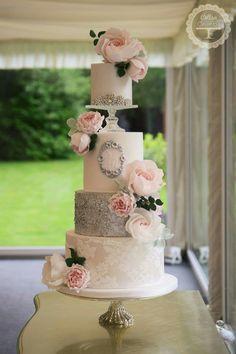 Beautiful wedding cake by Cotton &  Crumbs