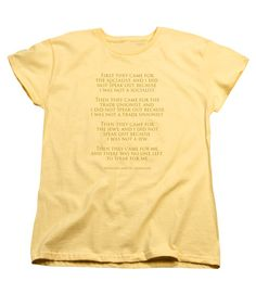 Poem Women's T-Shirt (Standard Cut) featuring the photograph First They Came by Mim White