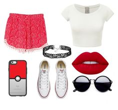 """""""simple❤❤❤"""" by mimi1324 on Polyvore featuring WithChic, Casetify, Converse and Lime Crime"""
