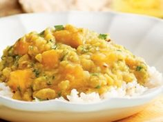 Indian Mango Dal.  I love Dal over brown rice and I also love mango...I think the combination would be deliciious!