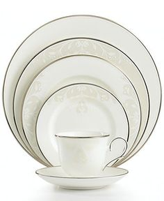 Lenox Opal Innocence Scroll 5-Piece Place Setting - Fine China - Dining & Entertaining - Macy's Bridal and Wedding Registry