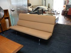 Eames Sofa Compact Herman Miller Eames Sofa Brown by XcapeVintage