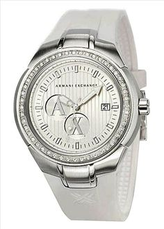 Armani Exchange Crystal Accents Silver Dial Women's watch AX5015 -commodityocean.com Armani Watches For Women, Skeleton, Crystals, Silver, Accessories, Skeletons, Silver Hair, Crystals Minerals, Crystal