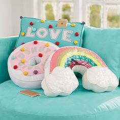 Sweet Treat Rockin Plush Speakers | PBteen make donut pillow!