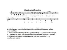 Muzikantská rodina Sheet Music, Classroom, Education, Alice, Flower, Carnival, Class Room, Educational Illustrations, Learning