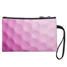 Pink Golf Ball Background Customized Template Wristlet Purse
