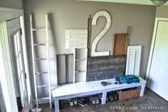 front entry wall organizer | ... wall / Wall art with junk for coats - a unique entryway by