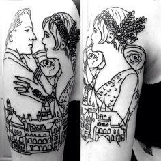 The great gatsby tattoo I wouldn't get the tattoo myself but it's a cool tat