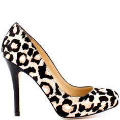 These sexy heels from Ivanka Trump exude luxury from tip to toe. Pinkette brings you a beautiful light brown cheetah print pony hair upper and a delicate rounded toe. A 4 inch black stiletto heel perfects these party pumps.