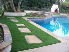 Synthetic Turf is great around pools.  STdepot.com 866-655-3040