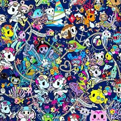 Here's a little peek at the new Sea Punk print! RSVP on our FB events… Cute Wallpaper Backgrounds, Cute Wallpapers, Phone Wallpapers, Cartoon Character Tattoos, Mermaid Pictures, Unicorns And Mermaids, Kawaii Doodles, Hello Kitty Wallpaper, All Things Cute