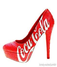Check out LoveItSoMuch.com to discover unique products like Fashion Red Coca Cola Sequin High Heels - Glitter Cola Sequin High Heels .