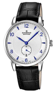 Montre Candino Classic - Homme - C4591 2 - Quartz - Analogique - Verre  Saphir - Cadran en Acier inoxydable Argent - Bracelet en Cuir Noir - Date -  Etanche 5 ... 28a94be0c0e