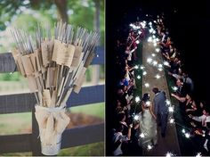 Awesome and Fun Wedding Ideas = Give out as favors some sparkles and you will have amazing pictures