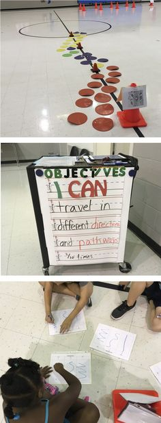 PE Teacher Crystal Williams, shares a fun and an organized way for students to demonstrate different pathways and directions.