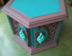 Six Sided Upcycled End Table- Reserved for Caitlin