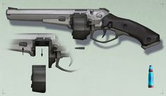 ArtStation - Tommy gun-esqu plasma pistal, Kenan Jackson