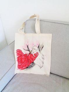 Anime hand painted bag / Manga bag / Inuyasha tote bag